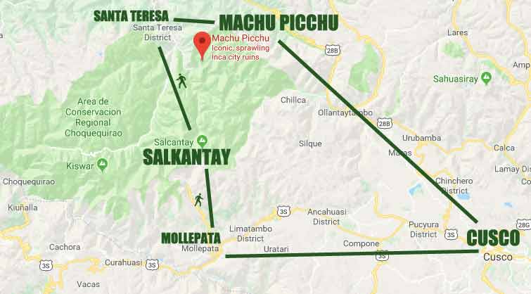 Salcantay Route to Machu Picchu